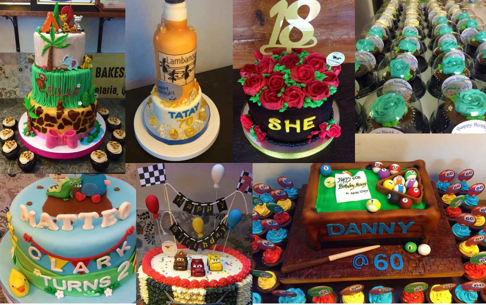 Assorted Customized Cakes by Maia's Cakes