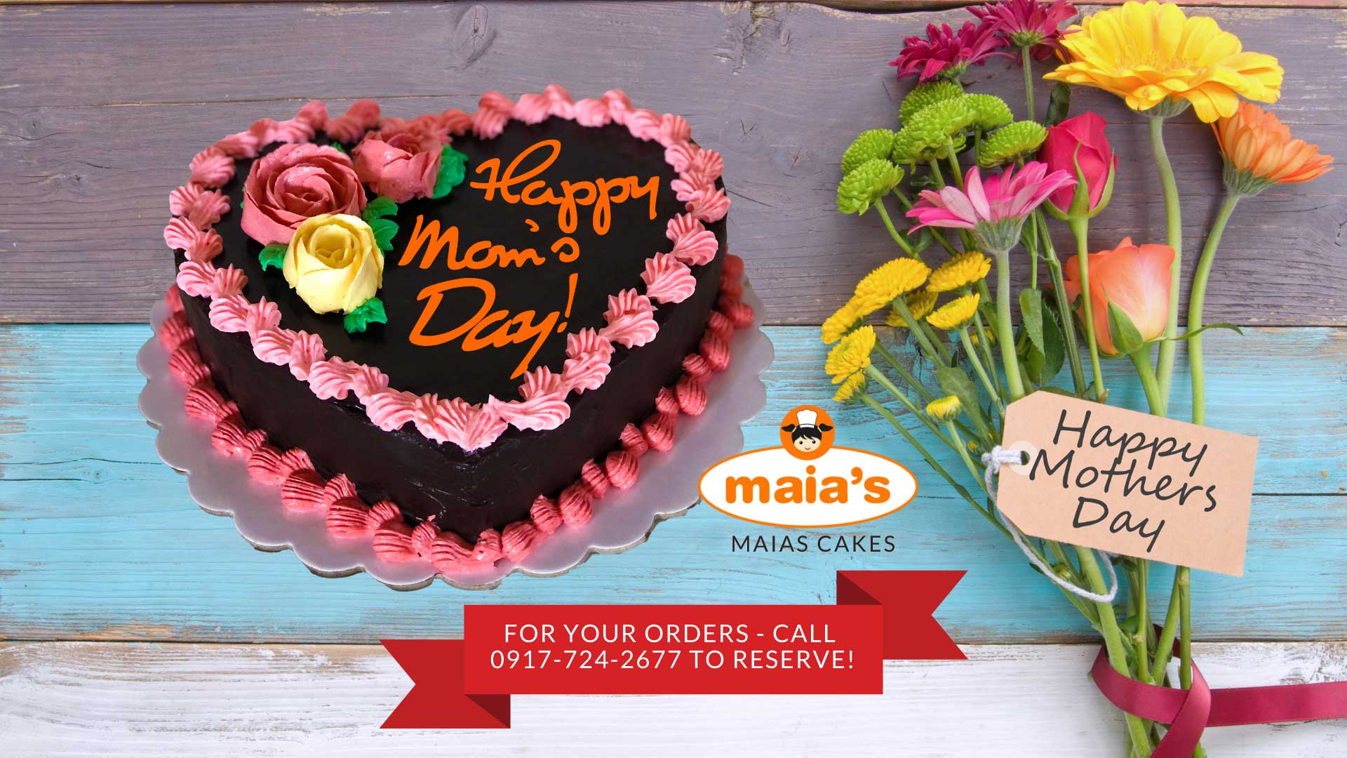Happy Mother's Day Cake by Maia's Cakes